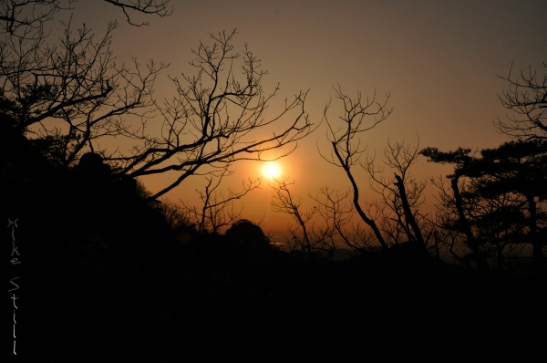 Sunset in Bukhansan