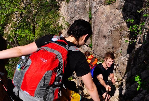 Hiking Dinosaur Ridge in Seoraksan National Park