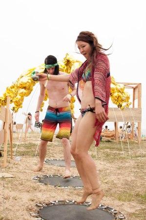 beach trampolines!