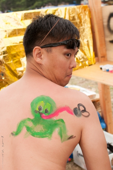 """""""Paint a frog on my back!"""" - Jin"""