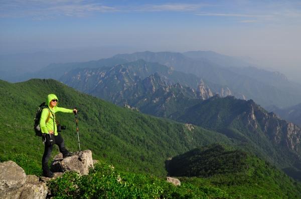 At the top of Daecheongbong in Seoraksan National Park