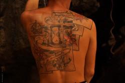 My 1st belayer's awesome tatoo!