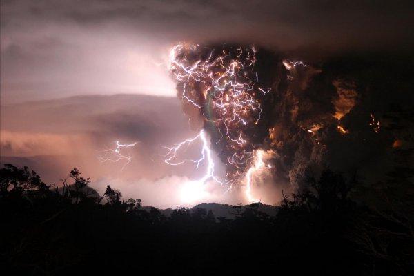 Dirty Thunderstorm by Carlos Guiterrez  Chaiten Volcano Chile